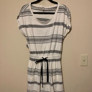 Loft Beach Striped Coverup Dress Size Medium